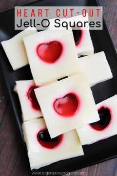 Heart Cut-Out Jell-O Squares