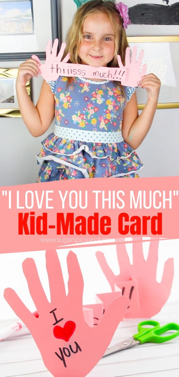 A cute kid-made card idea perfect for Mother's Day, Valentine's Day or a special birthday card - just to remind you how much they love you