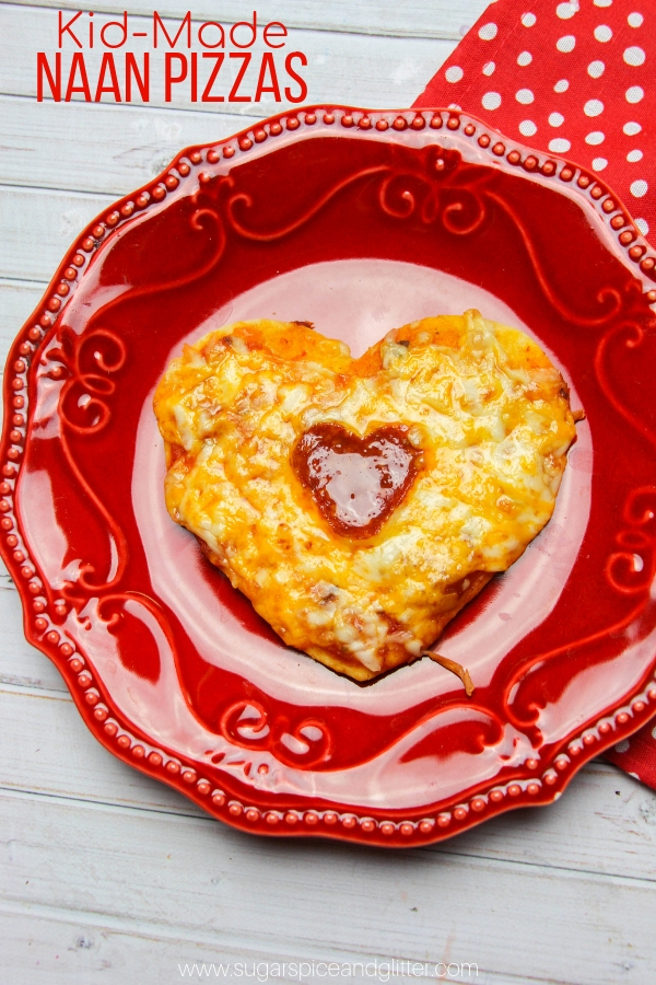 Heart-Shaped Naan Pizzas