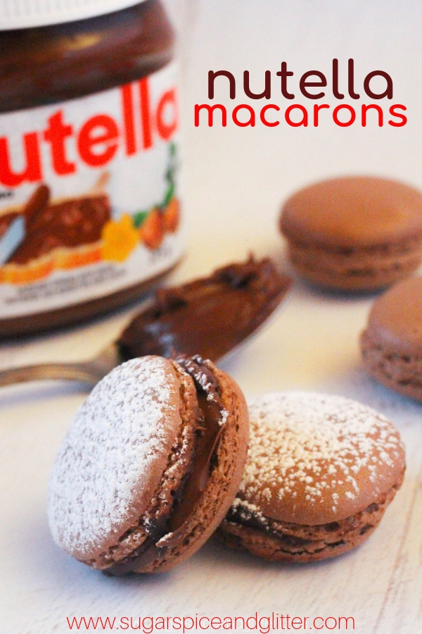 Nutella Macarons Sugar Spice And Glitter
