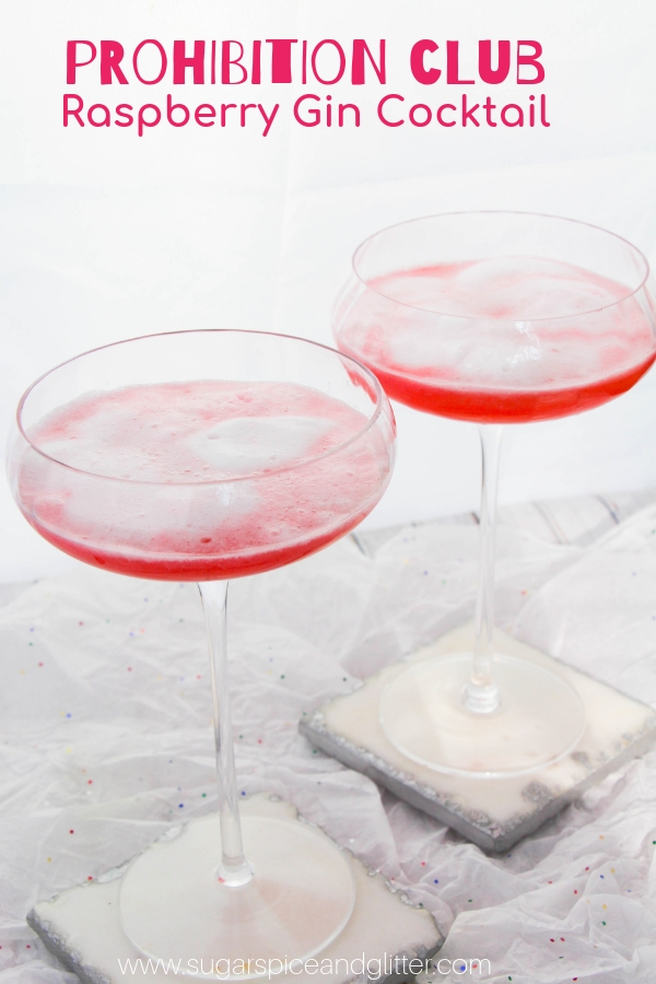 A raspberry gin cocktail straight from the Prohibition era, this Prohibition Club features a frothy egg white topping for a luxurious cocktail experience