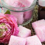 Rose Sugar Scrub Cubes
