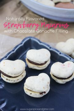 Heart-Shaped Strawberry Macarons with Chocolate Ganache Filling (with VIDEO)