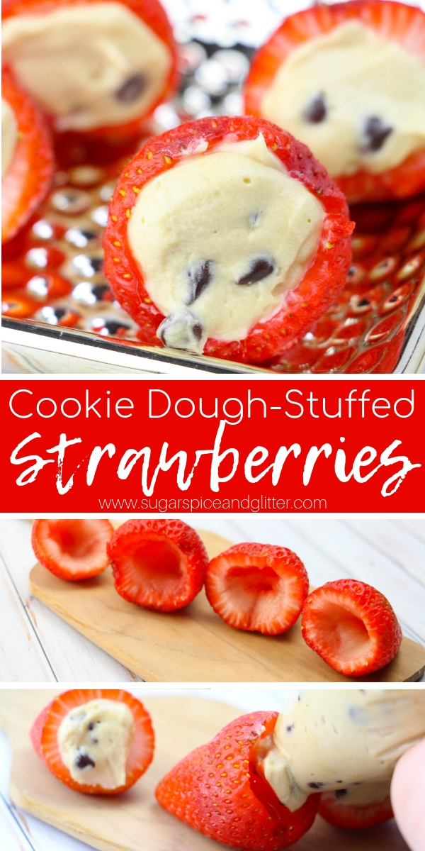 These Cookie Dough Stuffed Strawberries are what any true dessert lover's dreams are made of - pure two bite deliciousness