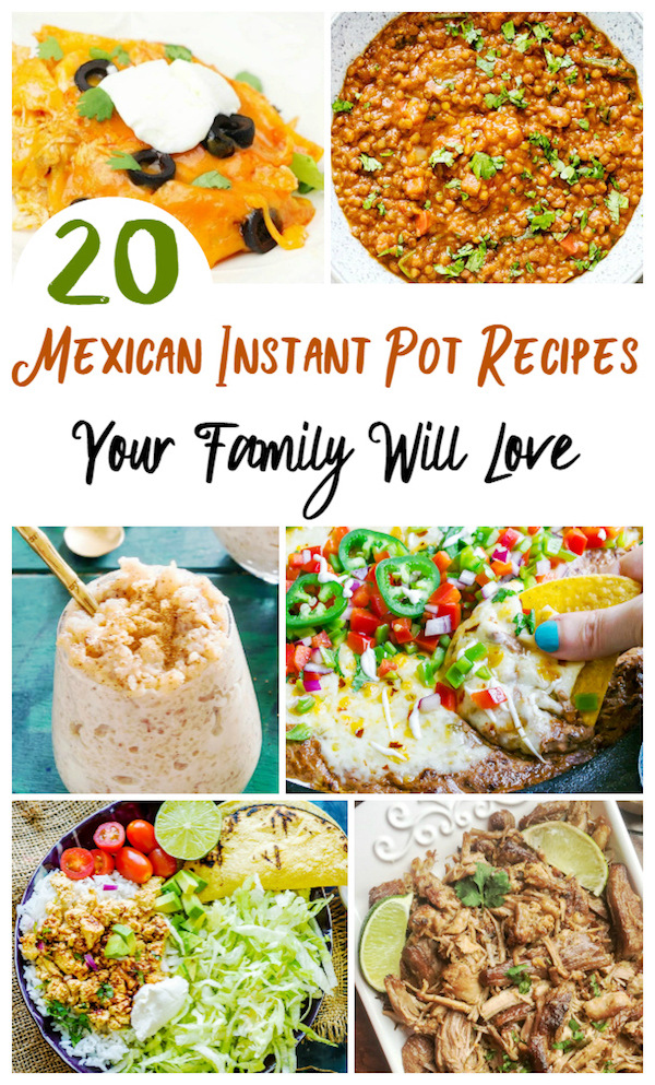 Delicious Mexican Instant Pot Recipes your family will love - from Instant Pot Tacos to Instant Pot Soups, Dips, and more!