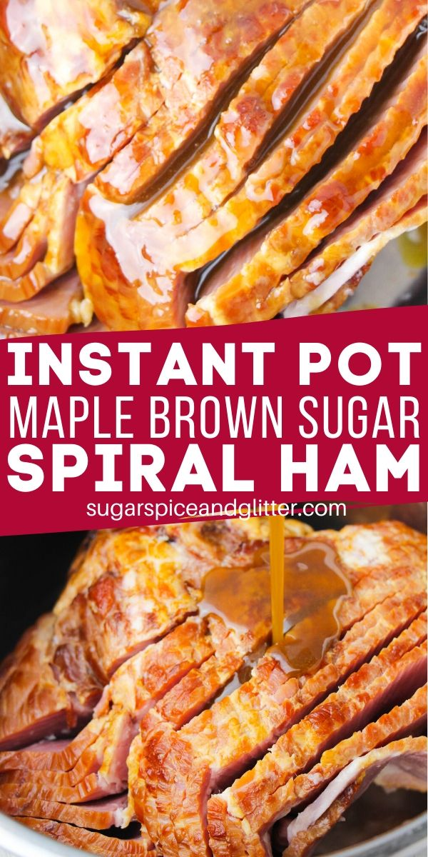 A delicious recipe for Brown Sugar Spiral Ham in the Instant Pot, plus tips on everything you need to know for a perfect cooking experience and how to use up any leftover ham