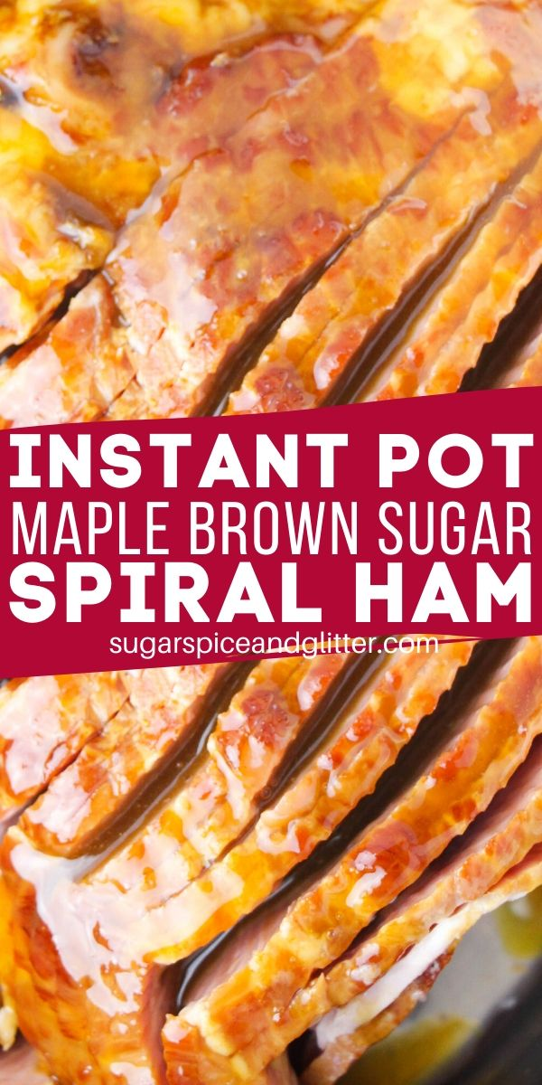 The PERFECT way to cook your holiday ham, this Instant Pot Brown Sugar Spiral Ham is succulent, sweet and savoury - and perfectly cooked, leaving your oven free for side dishes or other mains