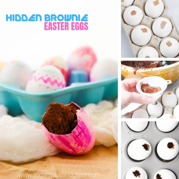 How to bake brownies in decorated Easter Eggs