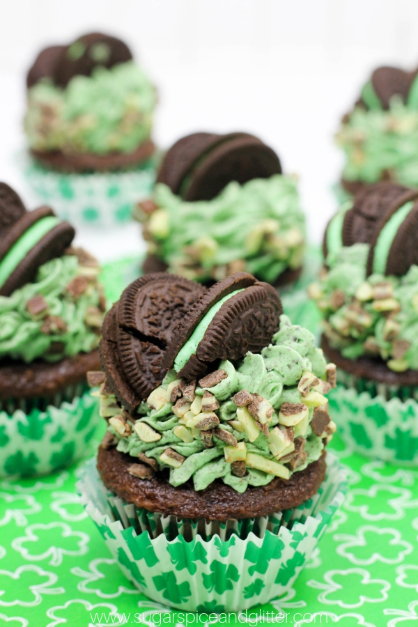 A decadent yet super easy Mint Chocolate dessert for St Patrick's Day