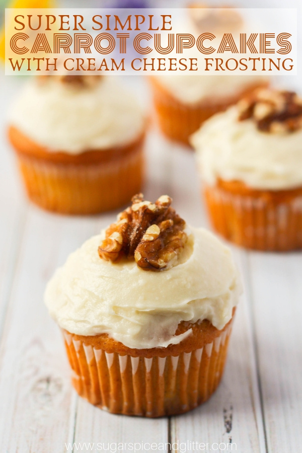 Best Ever Carrot Cupcakes with Pineapple Cream Cheese Frosting - the most decadent carrot cupcake, but super simple to make! Perfect for an Easter dessert, Thanksgiving treat or even Christmas party