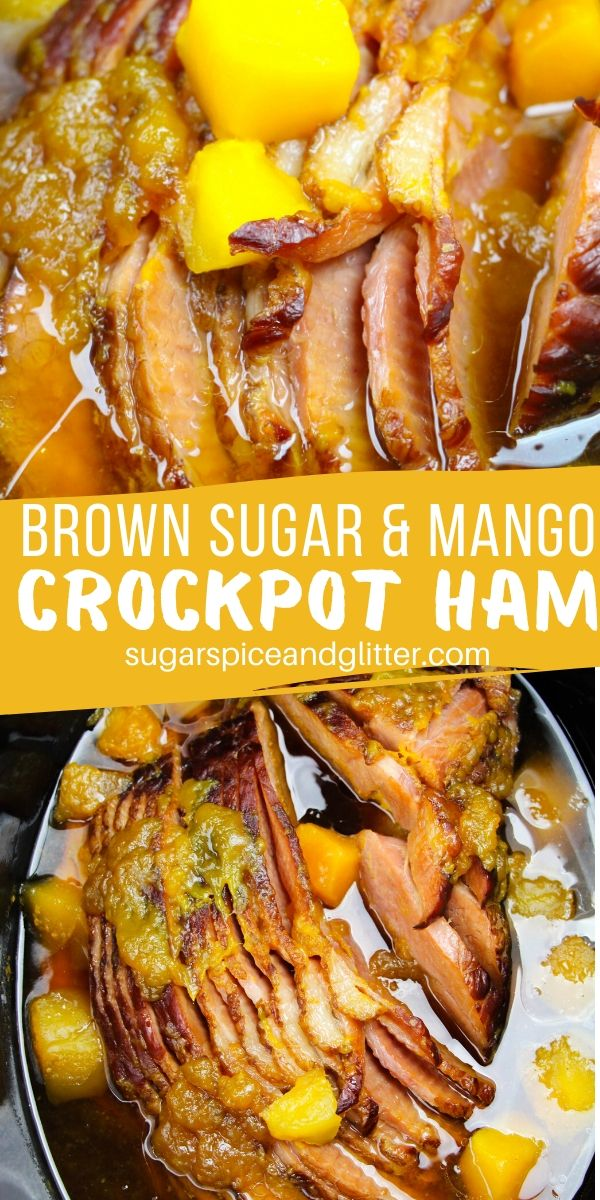 If you're not a huge fan of pineapple's acidity, you need to try this Mango Brown Sugar Crockpot Spiral Ham, a sweet, salty and umami option for Easter supper or Christmas