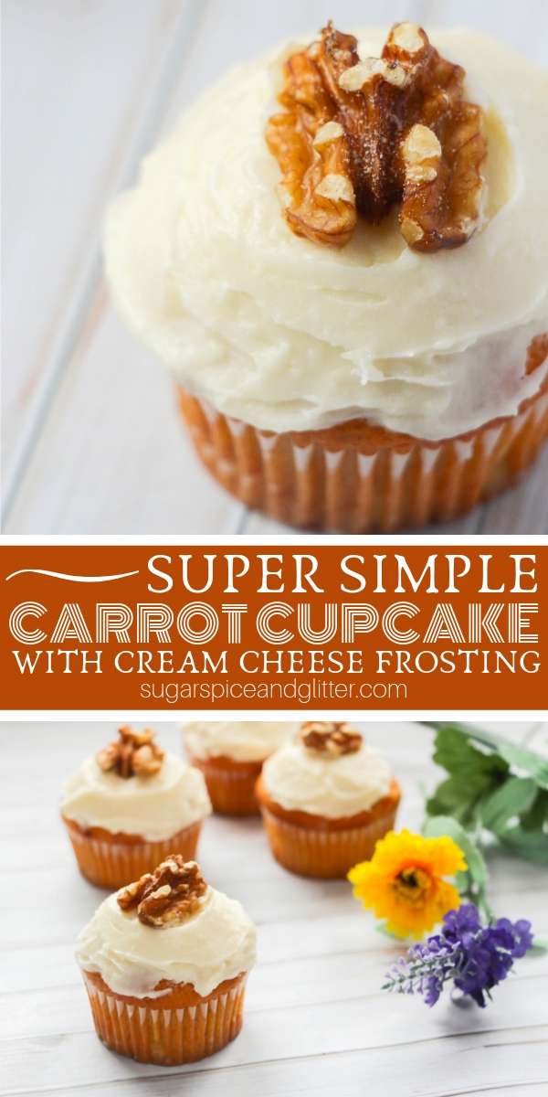 How to Make Carrot Cupcakes with Pineapple Cream Cheese Frosting - the most decadent carrot cupcake, but super simple to make! Perfect for an Easter dessert, Thanksgiving treat or even Christmas party