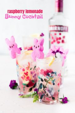 Peeps Raspberry Lemonade Cocktail