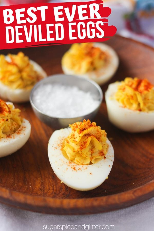 A super simple recipe for the BEST EVER Deviled Eggs, perfect for the holidays, a BBQ or brunch! An easy appetizer and total crowd pleaser