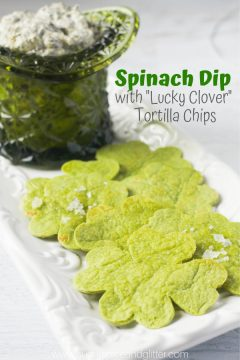 Spinach Dip with Shamrock Chips