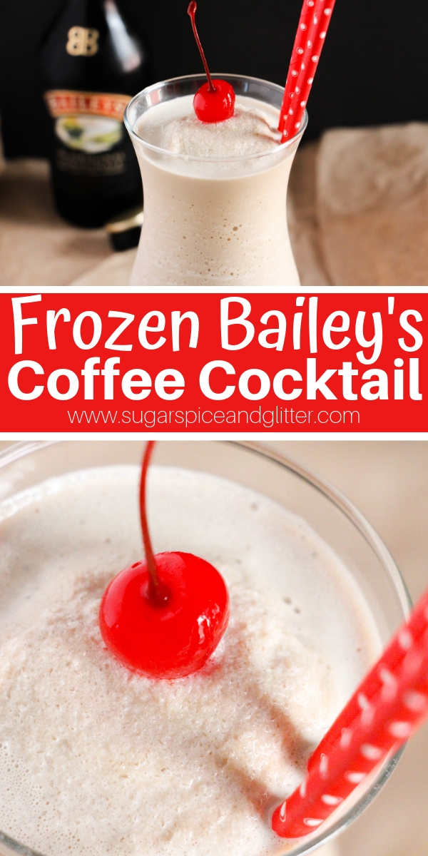 Forget Frappes, this Frozen Bailey's Coffee Cocktail is the ultimate frozen coffee experience. A fun twist on iced coffees when you want a frozen cocktail and a caffeine jolt!