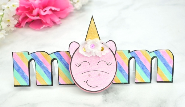 Unicorn Mother's Day Card (with VIDEO) ⋆ Sugar, Spice and