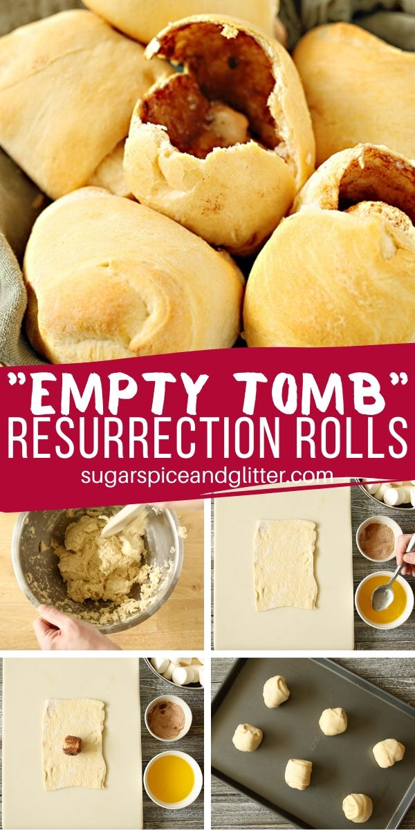 These Empty Tomb Resurrection Rolls are a great Easter activity for kids. Teach them the Easter Story and make a sweet treat while you're at it!