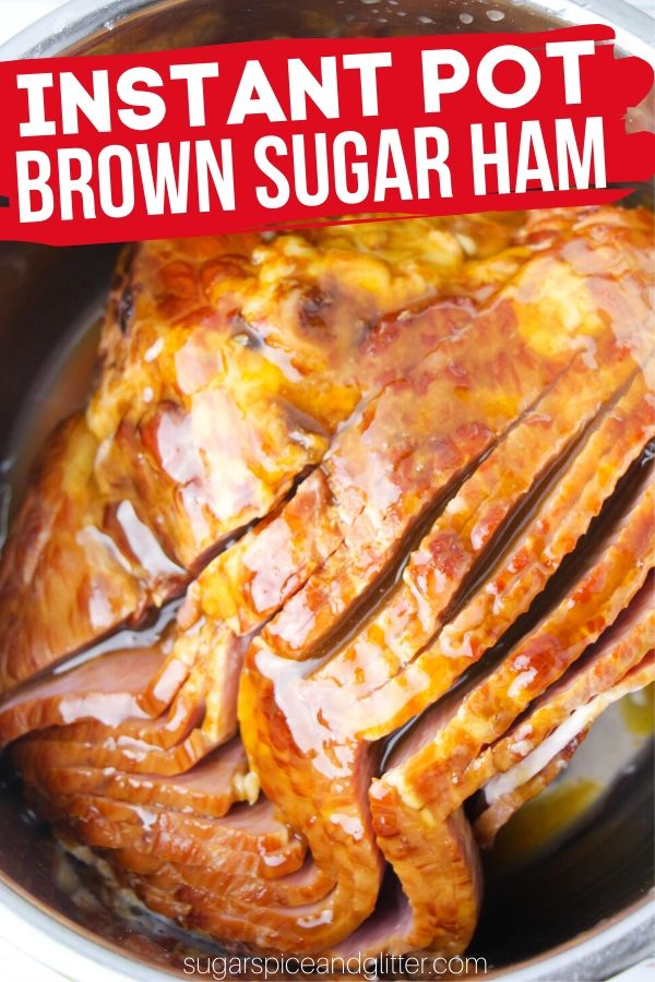 A delicious sweet ham recipe for Easter or Christmas! This Instant Pot Spiral Ham is super easy to make and has unbelievable flavor