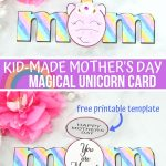 Unicorn Mother's Day Card (with VIDEO)
