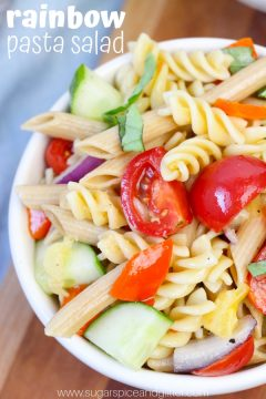 Rainbow Pasta Salad (with VIDEO)