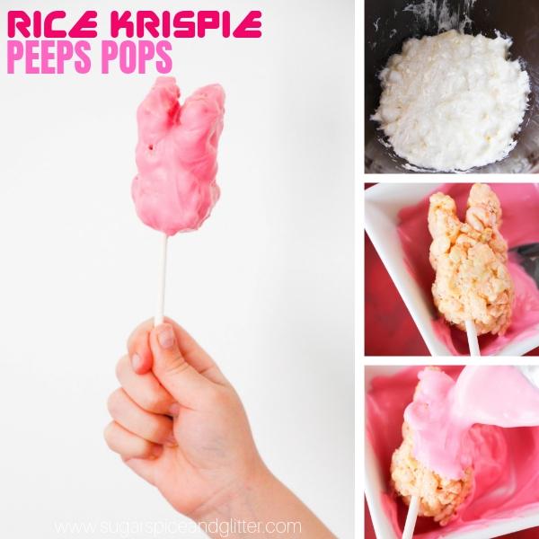 How to make PEEPS Rice Krispie Treats - a fun twist on classic Rice Krispie treats for Easter
