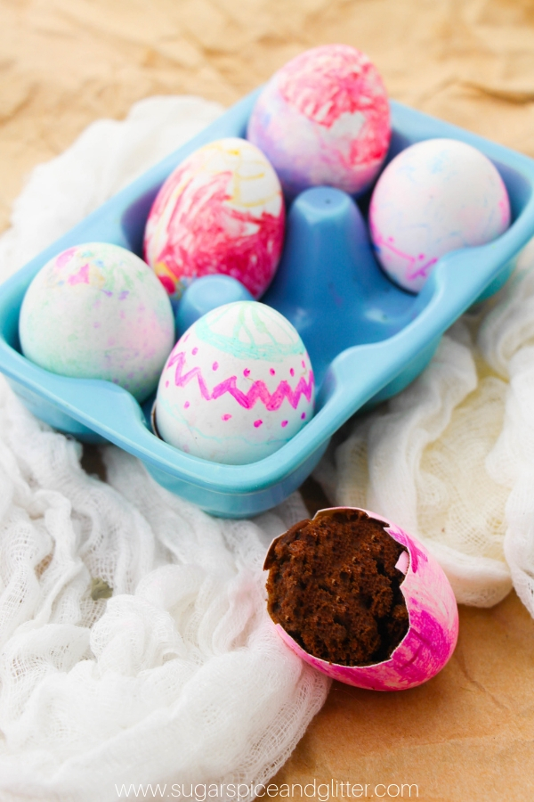 How fun is this Hidden Brownie Easter Egg dessert kids can help make?
