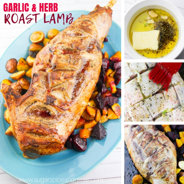 How to cook a leg of lamb with garlic and Italian seasoning
