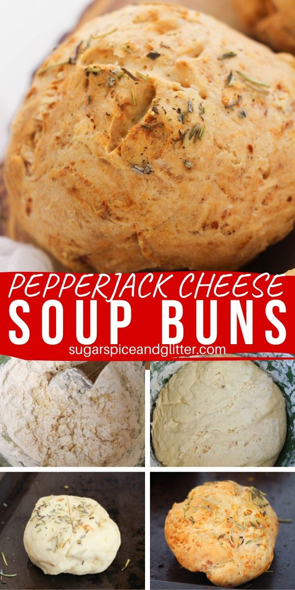 A delicious white pretzel bun perfect for dipping in soup, these Italian Soup buns are flavored with pepperjack cheese, Italian seasoning, and a hint of pretzel sweetness.