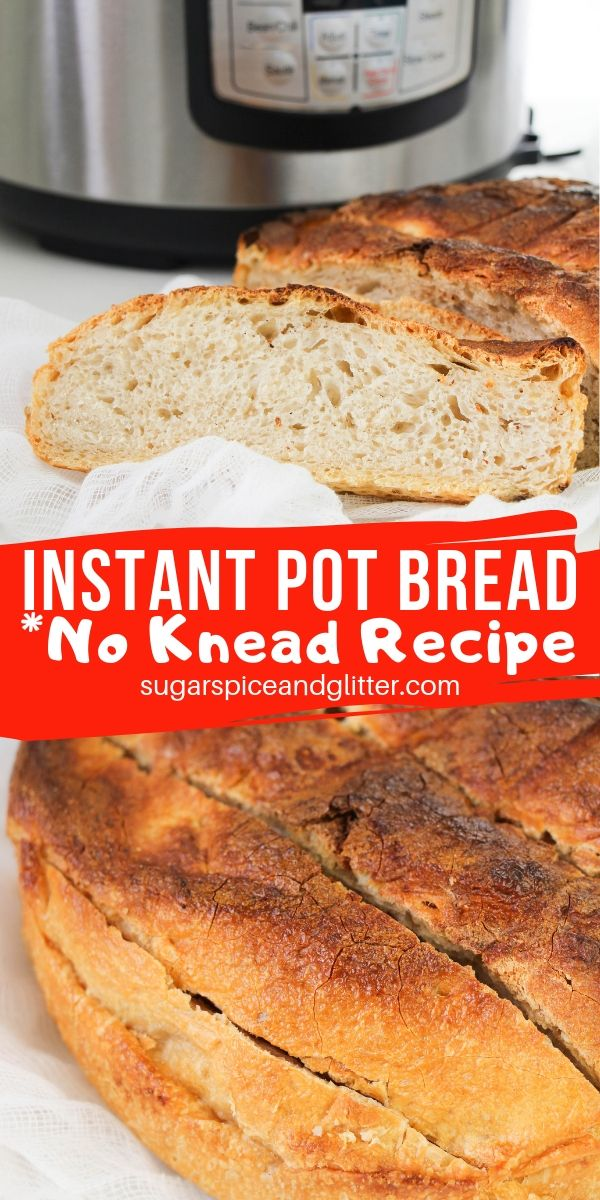 This super simple Instant Pot Bread recipe is a no knead bread recipe even the kids can help make!