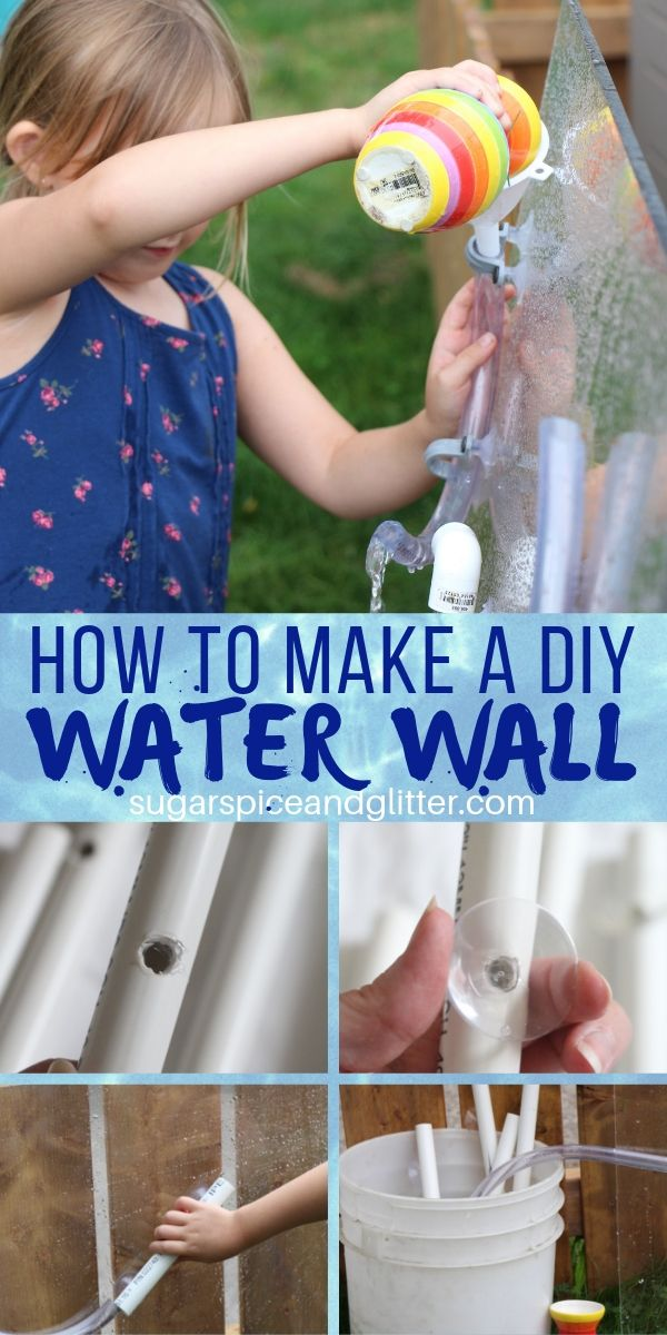 A DIY Water Wall to keep the kids busy and happy in the backyard this summer. A great hand's on way to teach science and engineering with water
