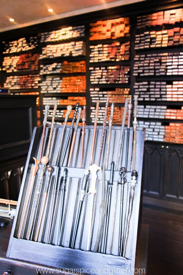 Wand selection at Harry Potter World's Diagon Alley