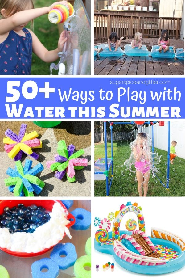 Water sensory play ideas for the summer, from water table activities to DIY Water Walls, and the best water toys for staying cool this summer