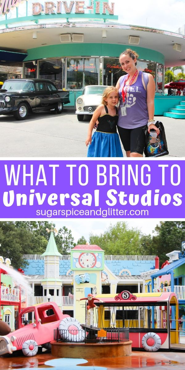 What to Bring to Universal Studios - a free printable packing list for your park backpack and also your suitcase!