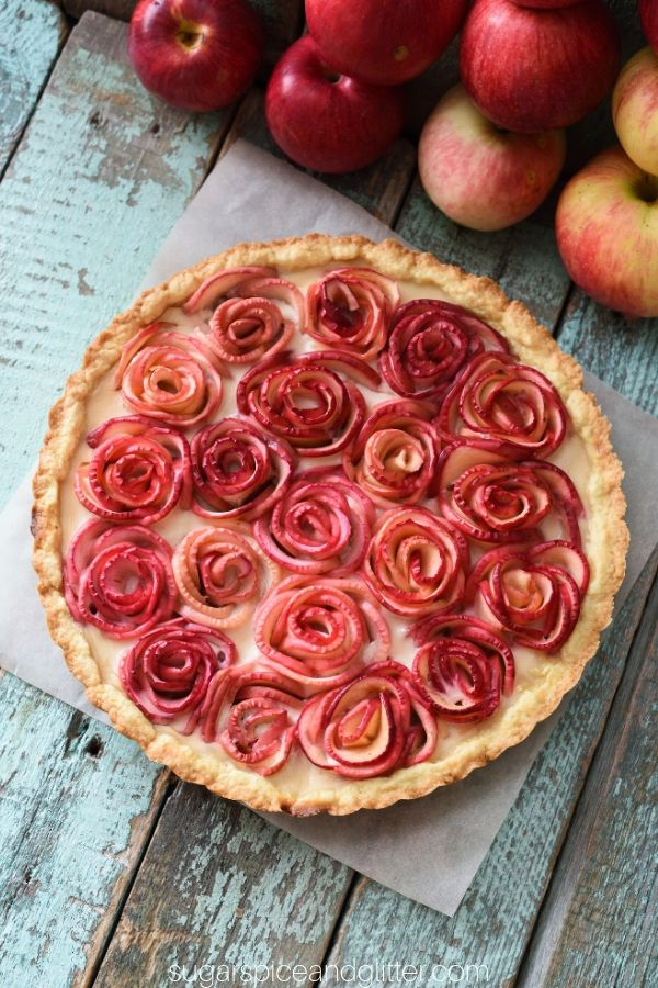 Planning a birthday for someone who doesn't like cake? Make them this pretty apple rose pie instead