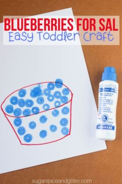 Blueberries for Sal Toddler Craft