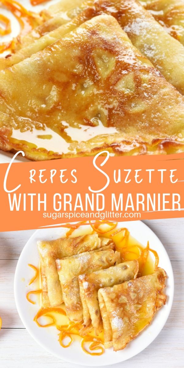 A delicious boozy brunch recipe, these Crepes Suzette are served in a luscious Grand Marnier caramel sauce for a decadent French brunch