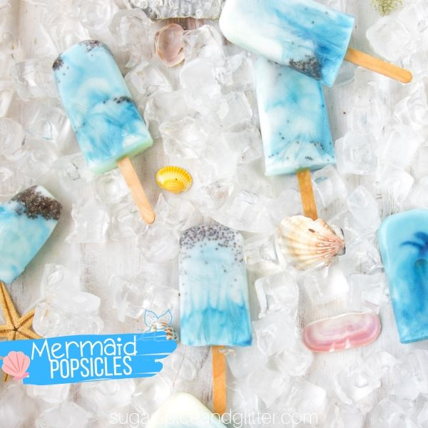 How to make Mermaid Popsicles for a Mermaid Birthday Party