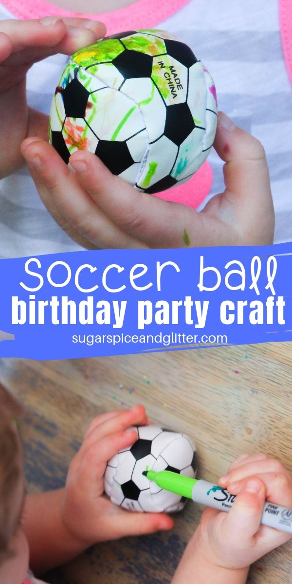 Get mini soccer balls and let kids customize their own for a fun goodie bag alternative