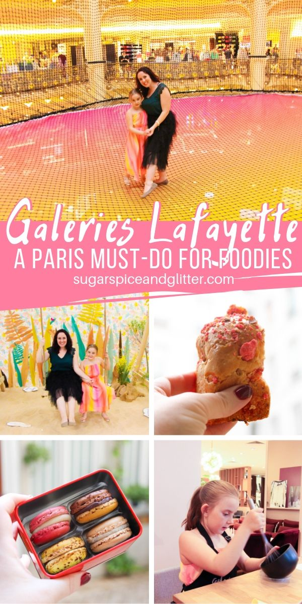 Everything you need to know about Galeries Lafayette, the ultimate destination for Foodies in Paris. Baking classes, gourmet food stalls, restaurants - and more!