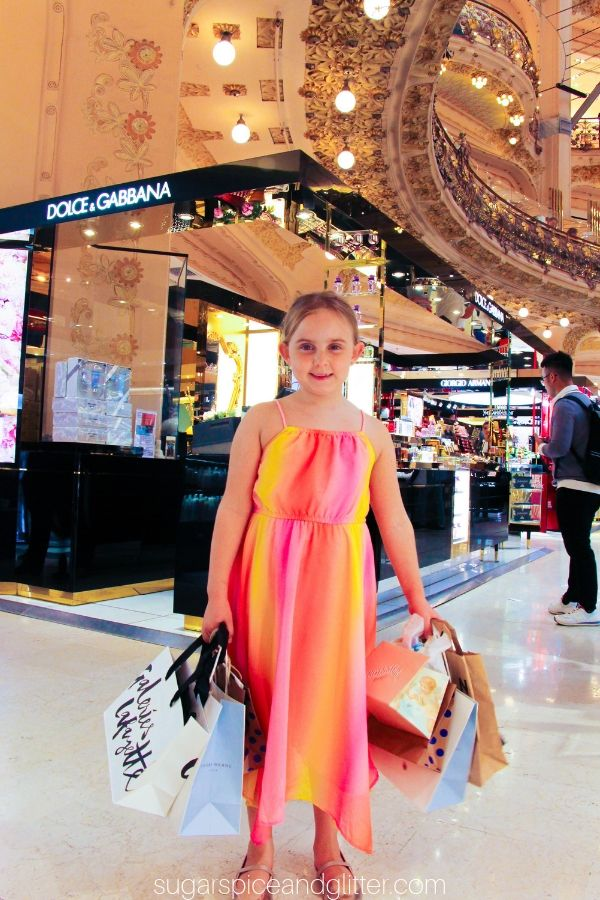 Shopping is just one of the many things you can do at Galeries Lafayette Haussman