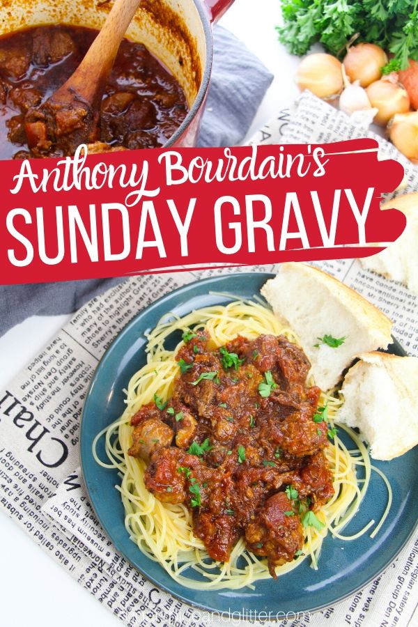 Simply the best meat sauce you will ever eat, this Italian American classic can be served as a spaghetti meat sauce or just sopped up with some good Italian bread!