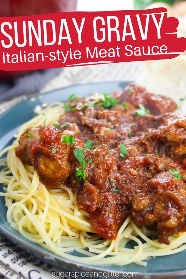 Simple step-by-step directions for Anthony Bourdain's Sunday gravy - the BEST Italian meat sauce you will ever taste!