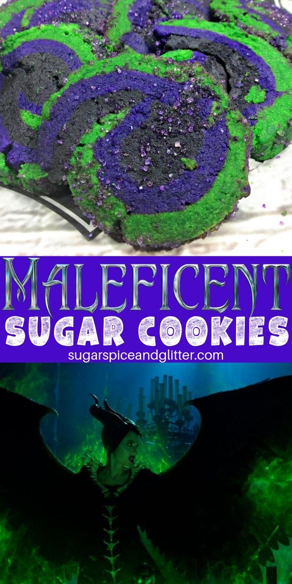 Celebrate the new Maleficent movie with these villainous sugar cookies, which are super easy and delicious