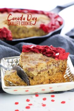 Canada Day Skillet Cookie