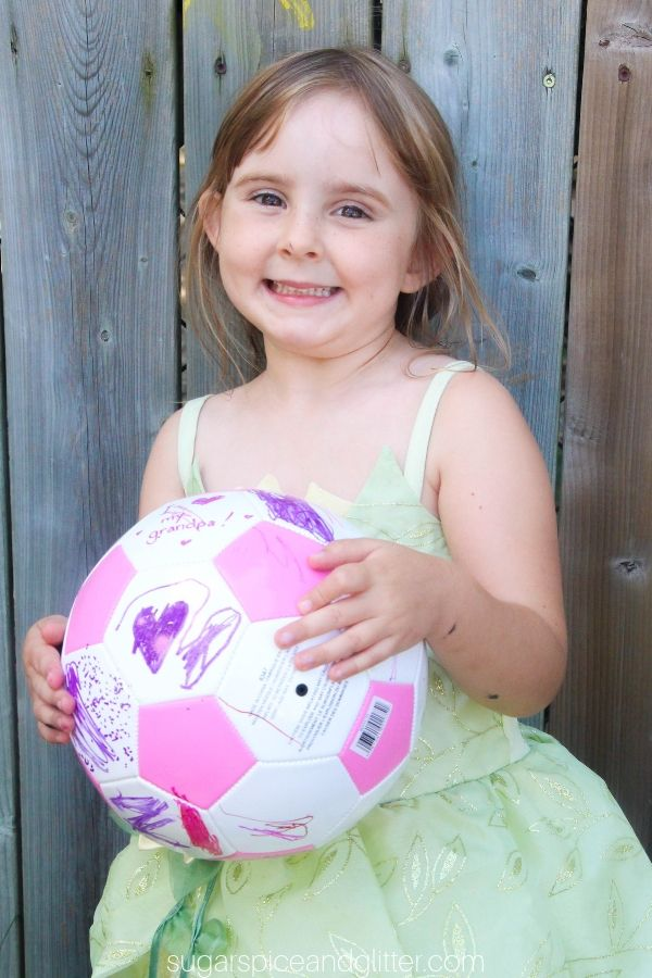Little soccer players will love customizing their own soccer balls, whether for themselves or to give as a special gift