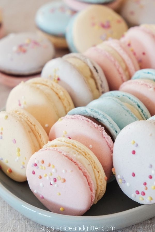 A simple step-by-step guide to perfect vanilla-almond macarons, perfect for a birthday party dessert