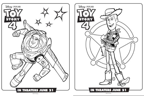 Toy Story Coloring Sheets ⋆ Sugar, Spice and Glitter