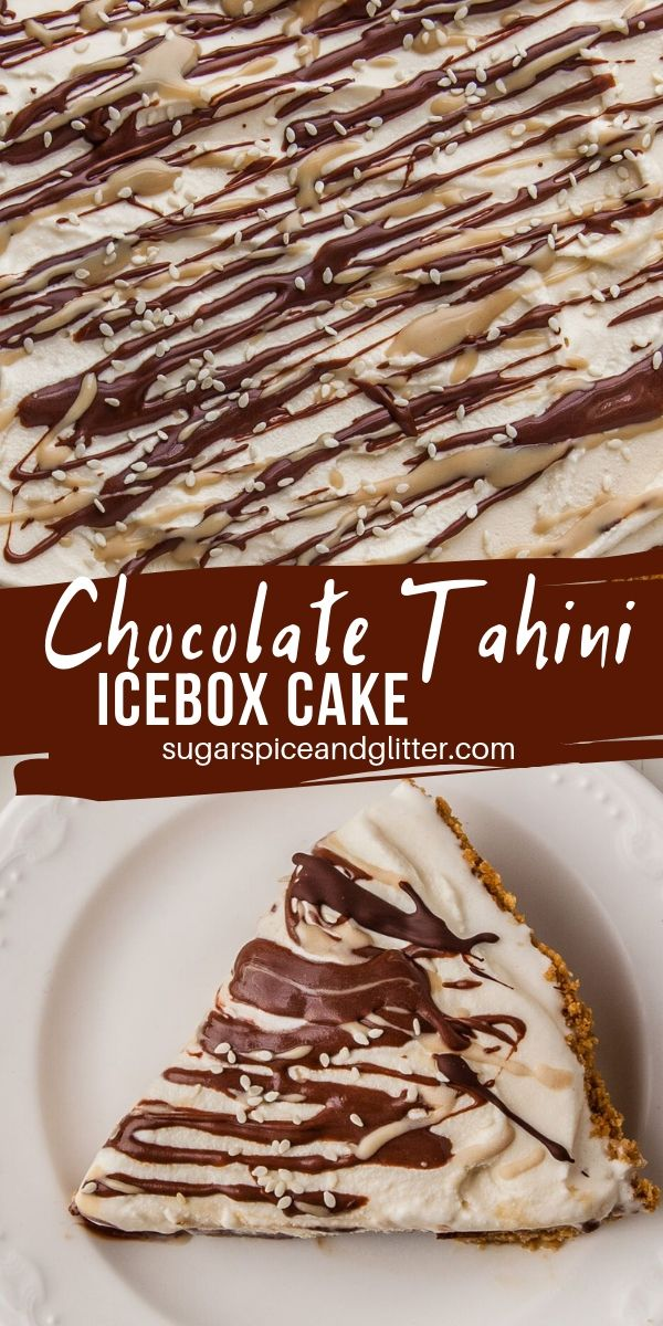 Yes, you read that right: Chocolate Tahini Icebox Cake! A fun tahini dessert perfect for those who like their desserts not too sweet