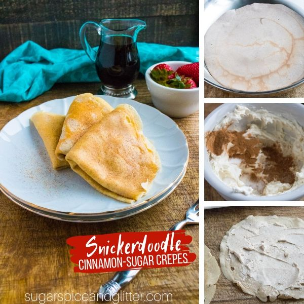 How to make Snickerdoodle Cinnamon-Sugar crepes just like they have in Paris!